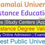 Annamalai University Distance Education courses