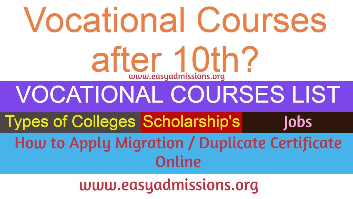 Vocational courses aftr 10th