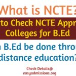 ncte approved bed colleges