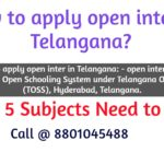 How to apply open inter in Telangana?