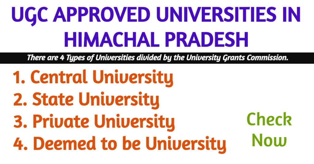 UGC APPROVED UNIVERSITY IN HIMACHAL PRADESH