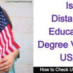 Is Distance Education Degree Valid In USA