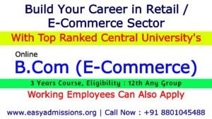 B.Com E Commerce colleges in Hyderabad | Online Course for 12th
