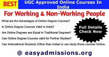 Best UGC Approved Online Courses for Working People in India