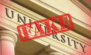 fake universities
