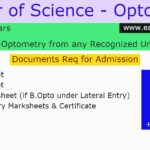 MSC Optometry Course Full Details Check Here