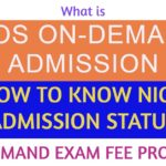NIOS ON DEMANDEXAM FEE ON DEMAND ADMISSION