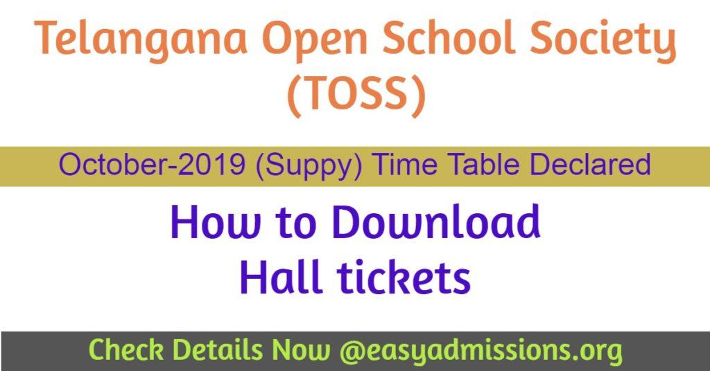 telangana open school october 2019