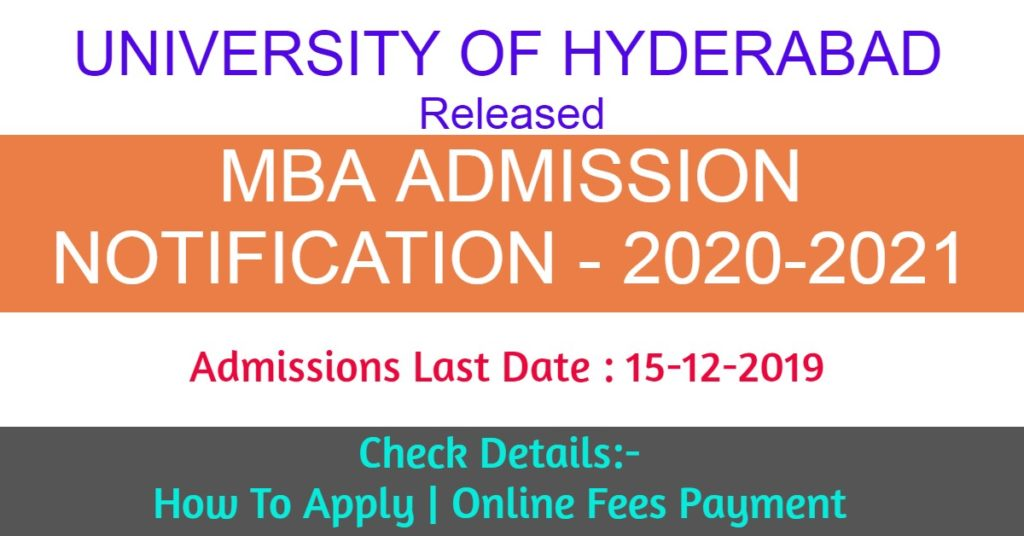university of hyderabad mba