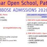 bbose admissions 2020
