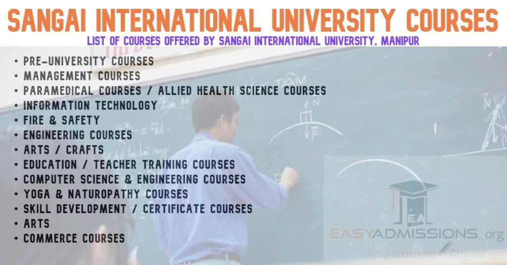 Sangai International University Manipur Courses