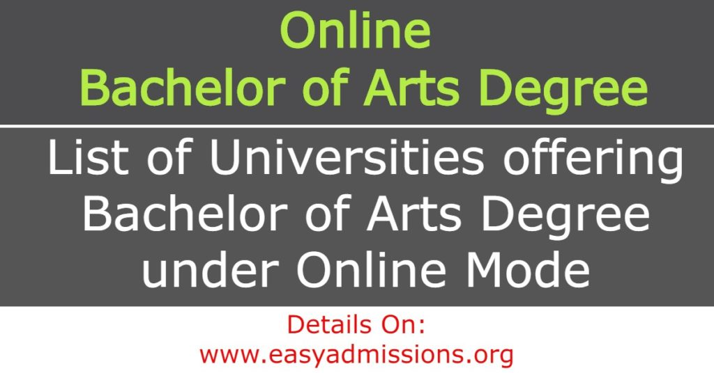 Online Bachelor of Arts Degree