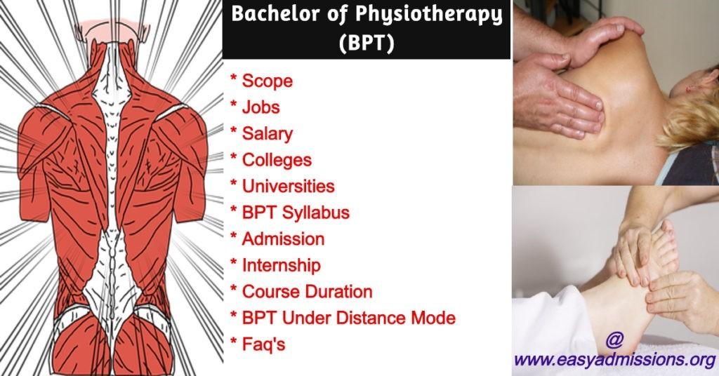 bpt course scope,jobs,syllabus,salary
