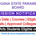 Telangana Paramedical Board Admission Notification