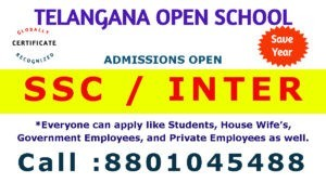 Telangana Open School Contact Number is 8801045488