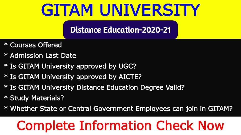 GITAM University Distance Education