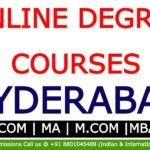 Online degree courses in Hyderabad |BA, BCom, MA, M.Com