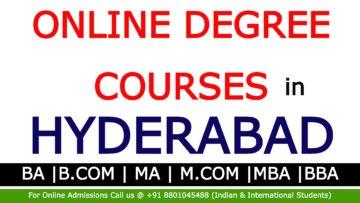 Online degree courses in Hyderabad |BA, BCom, MA, M.Com