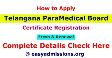 How to Apply Telangana Paramedical Board Certificate Registration