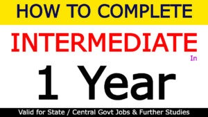 How to Complete Intermediate in 1 Year | TS Open Inter 2021-22