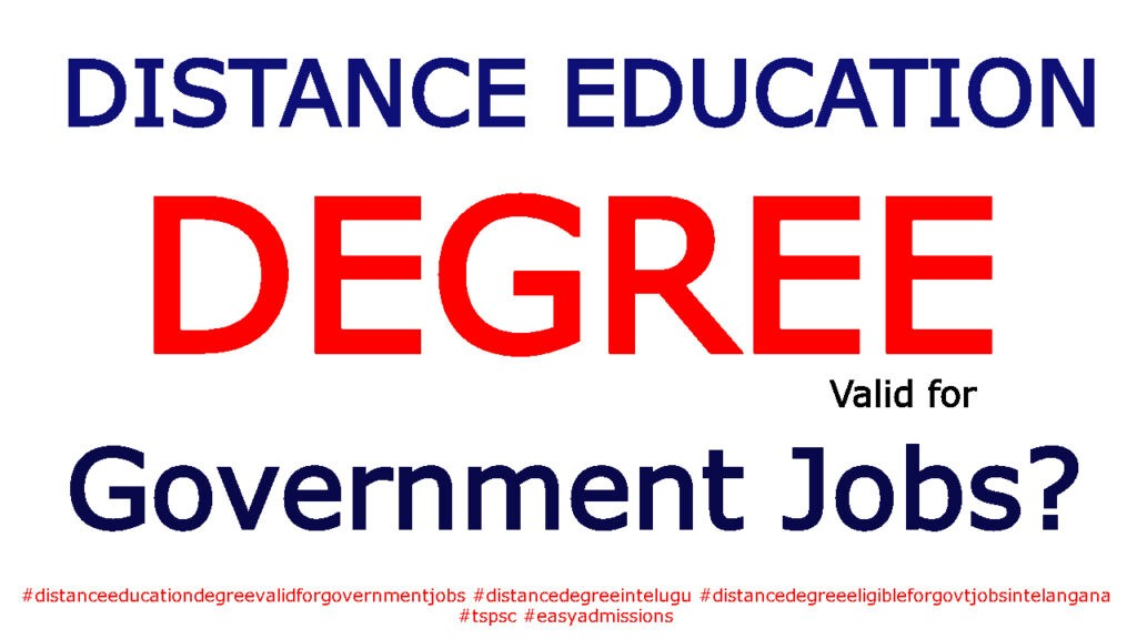 Is Distance Education Degree Valid for Government Jobs