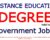 Is Distance Education Degree Valid for Government Jobs?