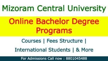 Mizoram Central University Online Bachelor Degree Programs