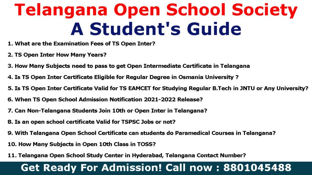 Telangana Open School Society SSC & Open Inter