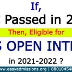 If TS Open SSC Passed in 2021, Then Can Eligible for TS Open Inter 2022_